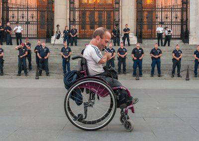 Tüntetési szünet a Parlamentnél a Kossuth Lajos téren
